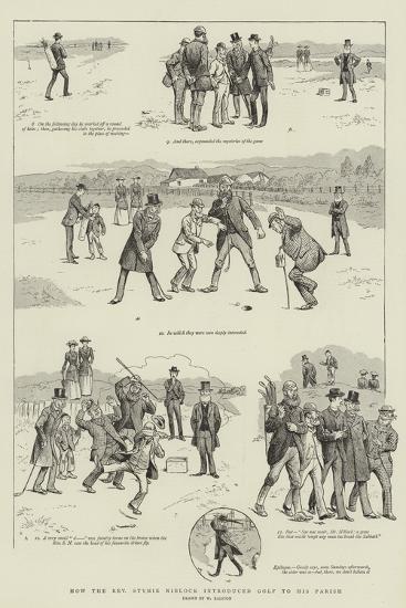 How the Reverend Stymie Niblock Introduced Golf to His Parish-William Ralston-Giclee Print
