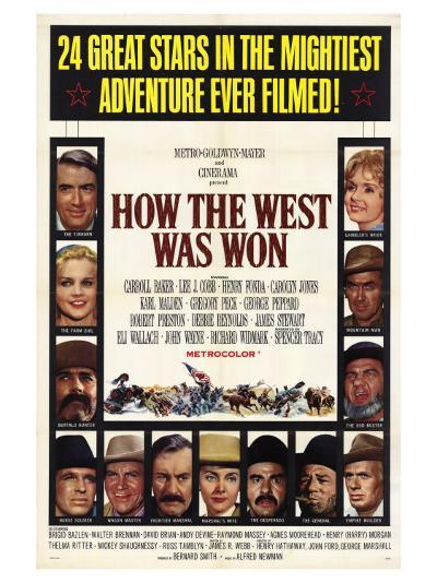 How the West Was Won, 1964--Art Print