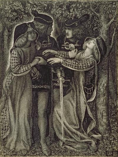 How They Met Themselves, C.1850/60-Dante Gabriel Rossetti-Giclee Print