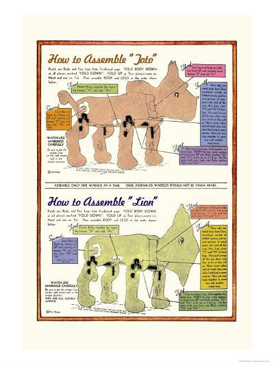 How to Assemble Toto-William W^ Denslow-Art Print