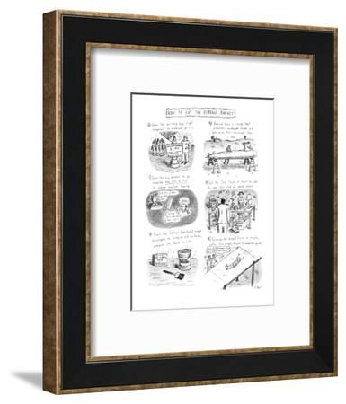 How To Cut The Defense Budget - New Yorker Cartoon-Roz Chast-Framed Premium Giclee Print