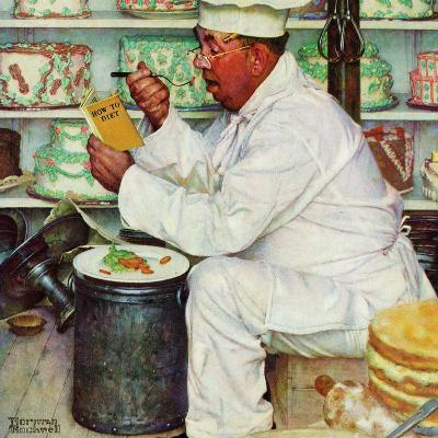 """""""How to Diet"""", January 3,1953-Norman Rockwell-Giclee Print"""