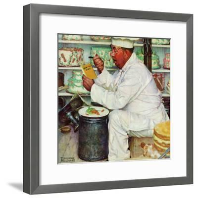 """""""How to Diet"""", January 3,1953-Norman Rockwell-Framed Giclee Print"""