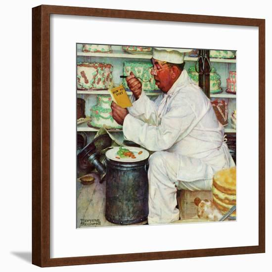 """How to Diet"", January 3,1953-Norman Rockwell-Framed Giclee Print"