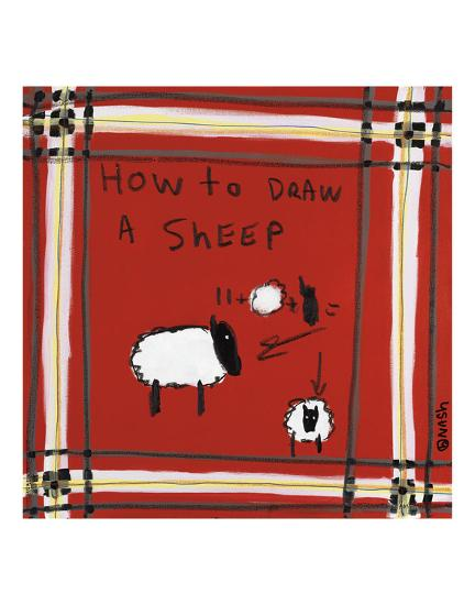 How to Draw a Sheep-Brian Nash-Art Print