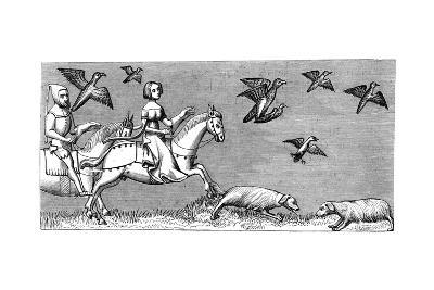 How to Make Young Hawks Fly, 14th Century--Giclee Print