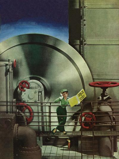 """How to Operate a Power Plant,"" October 2, 1943-Russell Patterson-Giclee Print"