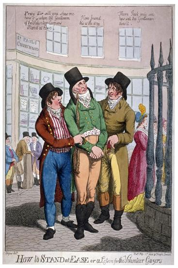 How to Stand at Ease, or a Lesson for the Volunteer Gazers, 1804-C Williams-Giclee Print