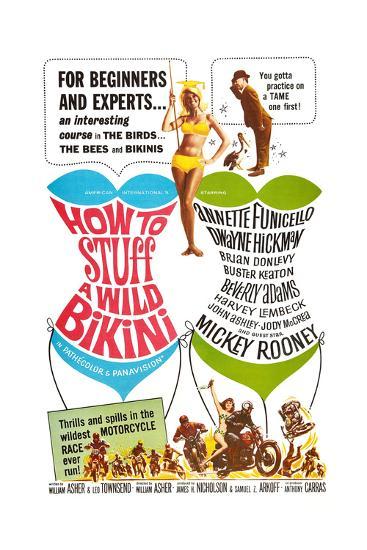 How to Stuff a Wild Bikini, Mary Hughes; Mickey Rooney, 1965--Art Print