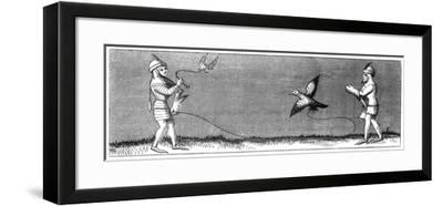 How to Train a Young Falcon, 14th Century--Framed Giclee Print