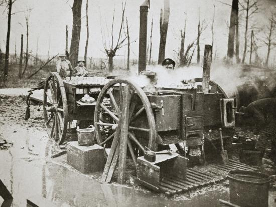 'How Tommy's food is cooked', Somme campaign, France, World War I, 1916-Unknown-Photographic Print