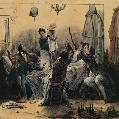How Young Men Do their Duty in Paris, Caricature--Giclee Print