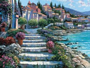 Steps of St. Tropez by Howard Behrens