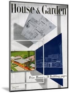 House & Garden Cover - August 1945 by Howard Beyer