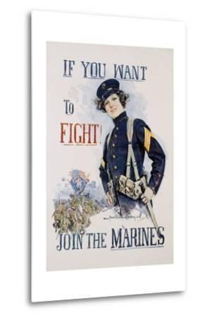If You Want to Fight! Join the Marines Poster