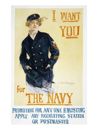World War I: Navy Poster
