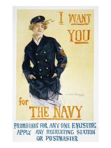 World War I: Navy Poster by Howard Chandler Christy