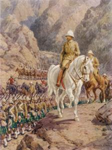 Lord Roberts on the March to Kandahar by Howard Davie