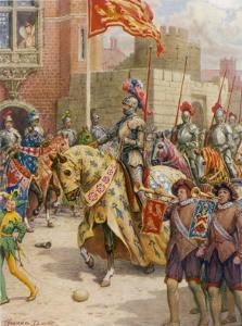 Sir Philip Sidney Jousts at Whitehall by Howard Davie