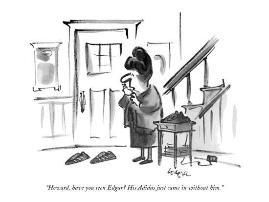 """""""Howard, have you seen Edgar? His Adidas just came in without him."""" - New Yorker Cartoon-Lee Lorenz-Premium Giclee Print"""