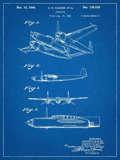 Howard Hughes Airplane Patent--Art Print