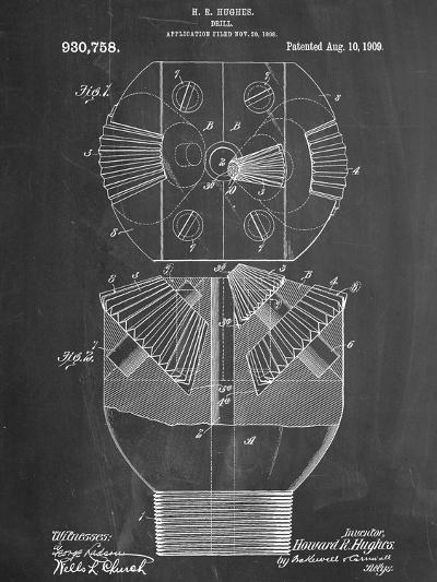 Howard Hughes Drill, Oil Drill Patent--Art Print