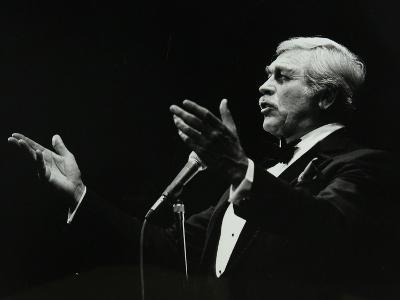 Howard Keel in Full Song at the Forum Theatre, Hatfield, Hertfordshire, 14 May 1983-Denis Williams-Photographic Print