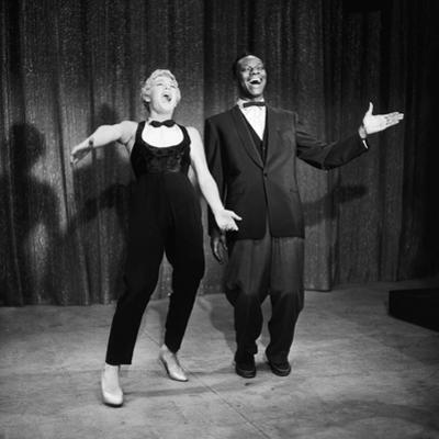 """Nat King Cole and His Guest Star Betty Hutton Belt Out a Tune, """"Nat King Cole"""" Show, 1957"""