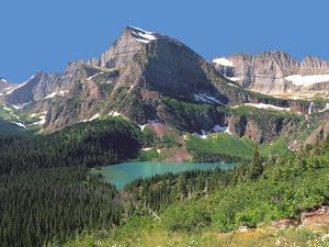Grinnel Lake Below Mt Gould in Glacier National Park, Montana by Howard Newcomb