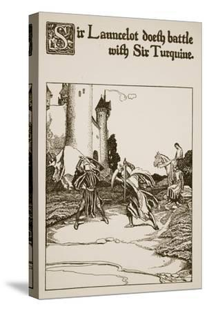 Sir Launcelot Doeth Battle with Sir Turquine, Illustration from 'The Story of the Champions of the