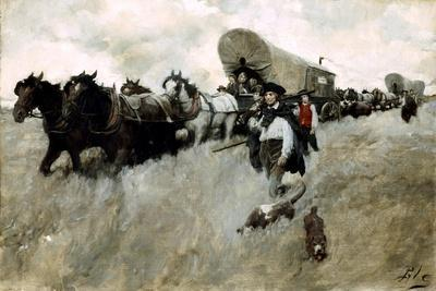 The Connecticut Settlers Entering the Western Reserve