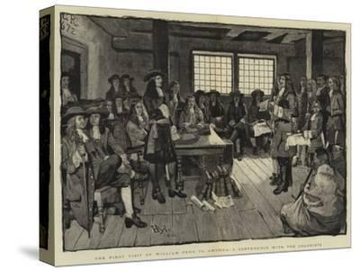 The First Visit of William Penn to America, a Conference with the Colonists