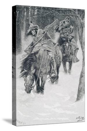 Travelling in Frontier Days, Illustration from 'The City of Cleveland' by Edmund Kirke