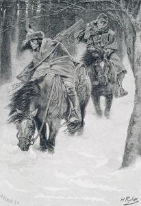 Travelling in Frontier Days, Illustration from 'The City of Cleveland' by Edmund Kirke by Howard Pyle