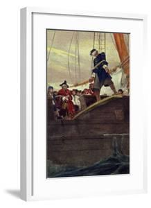 Walking the Plank, Engraved by Anderson by Howard Pyle