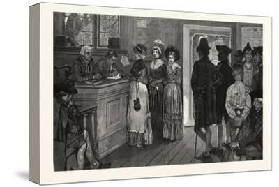 Women at the Polls in New Jersey in the Good Old Times