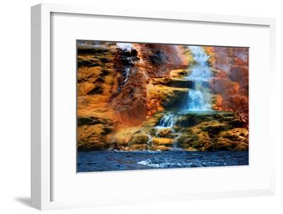 Mammoth Hot Springs Waterfall