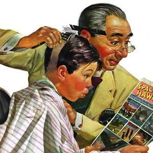 """""""Comical Haircut,"""" February 27, 1943 by Howard Scott"""