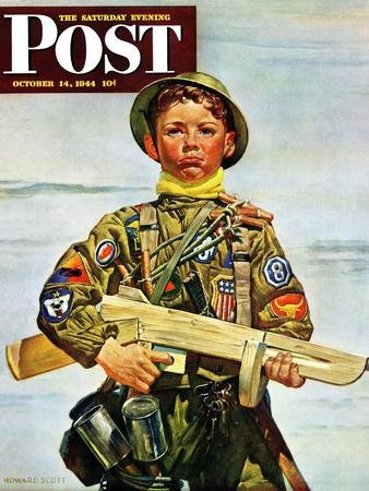 """Commando Kid,"" Saturday Evening Post Cover, October 14, 1944"