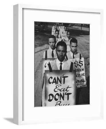 African Americans on Picket Line, Protesting Treatment at Lunch Counter