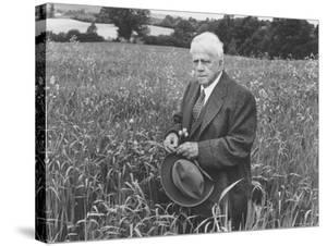 American Poet, Robert Frost Standing in Meadow During Visit to the Gloucester Area of England by Howard Sochurek