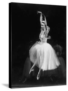 Galina Ulanova Performing During Ballet at the Bolshoi Theater by Howard Sochurek