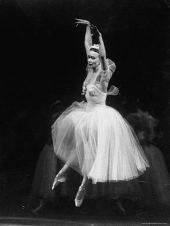Galina Ulanova Performing During Ballet at the Bolshoi Theater