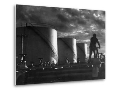 Huge Storage Tanks of Aramco Oil Co