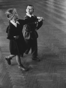 Public School Students Taking Rhythmic Dance Class by Howard Sochurek