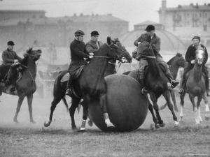 Push Ball Game at the Hippodrome Stadium by Howard Sochurek