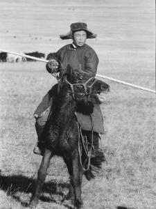 Shaggy Horse is Ridden by Mongolian Herdsman by Howard Sochurek