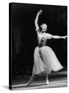 "Soviet Ballerina Galina Ulanova Dancing in Title Role of Ballet ""Giselle"" at the Bolshoi Theater by Howard Sochurek"