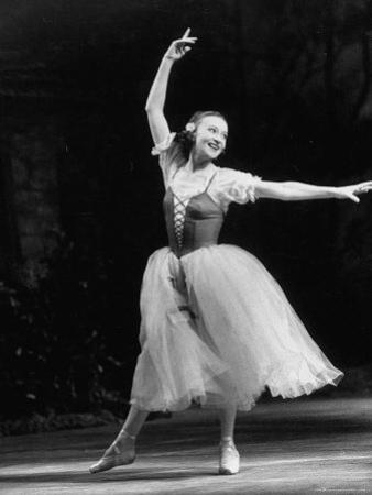 "Soviet Ballerina Galina Ulanova Dancing in Title Role of Ballet ""Giselle"" at the Bolshoi Theater"