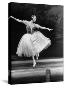 "Soviet Ballerina Galina Ulanova Dancing in Title Roll of Ballet ""Giselle"" at the Bolshoi Theater by Howard Sochurek"